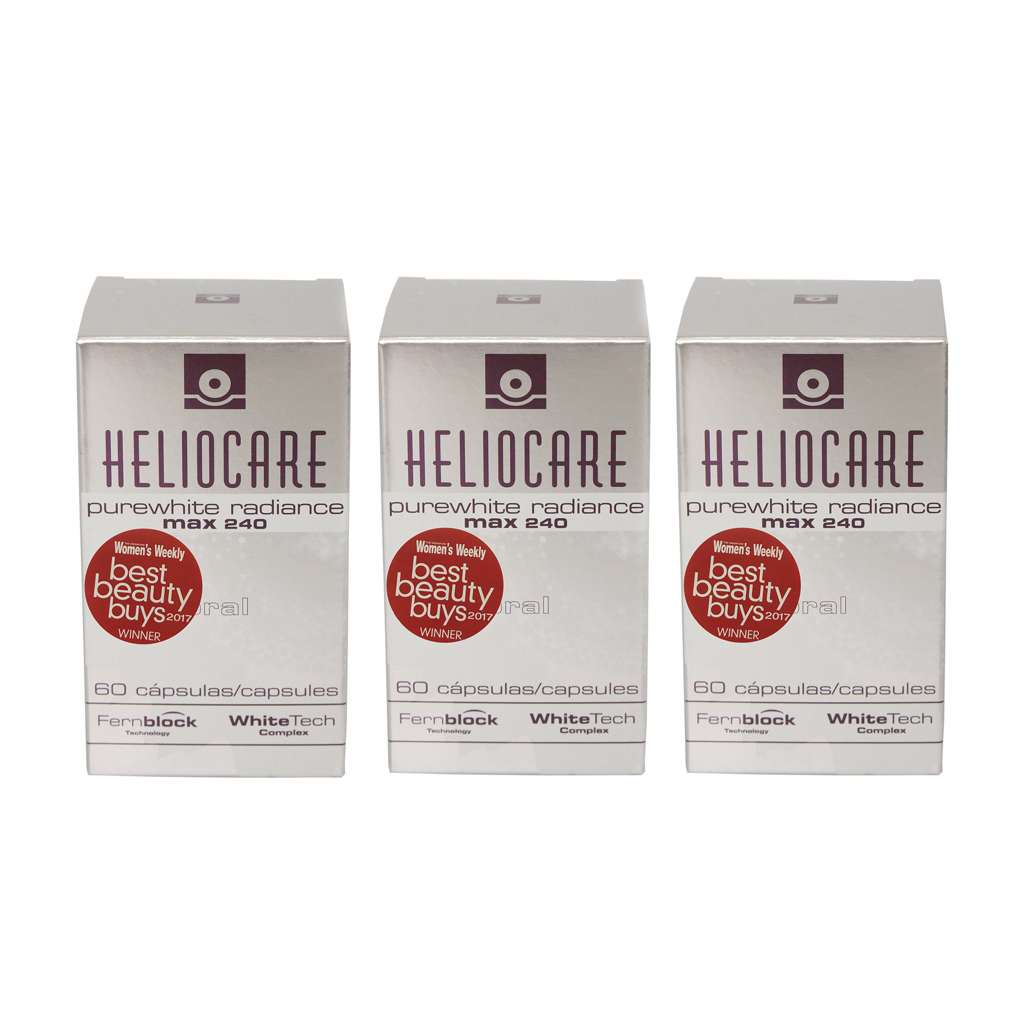 heliocare purewhite radiance bundle of 3 boxes